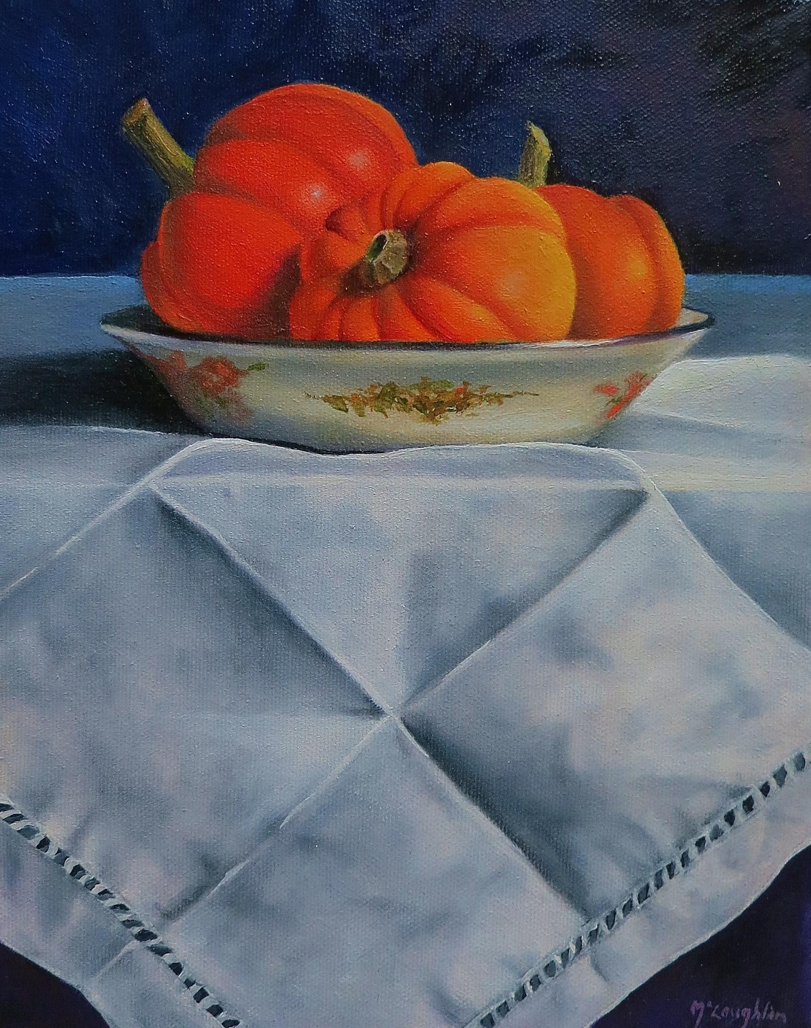 "MINI PUMPKINS - oil - 8x10"" - $295"