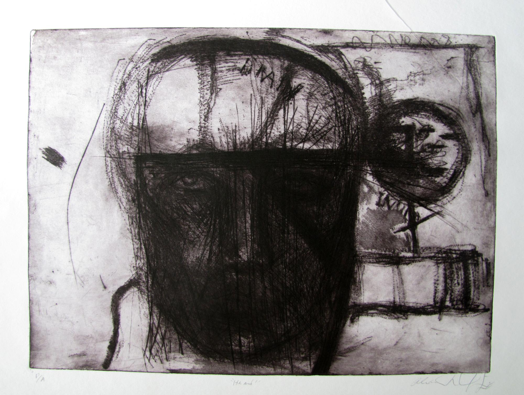 Head Etching .2003. 24 x 18 inches