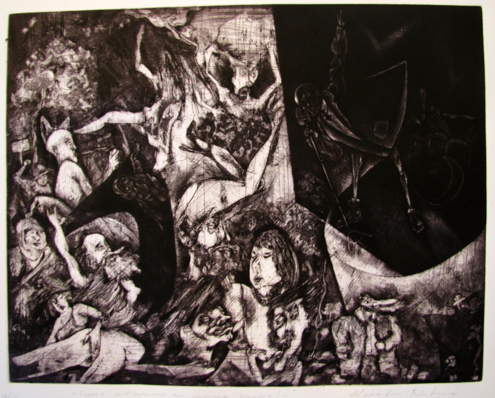 The Soft Parade.  Etching .1996. 24 x 19 inches