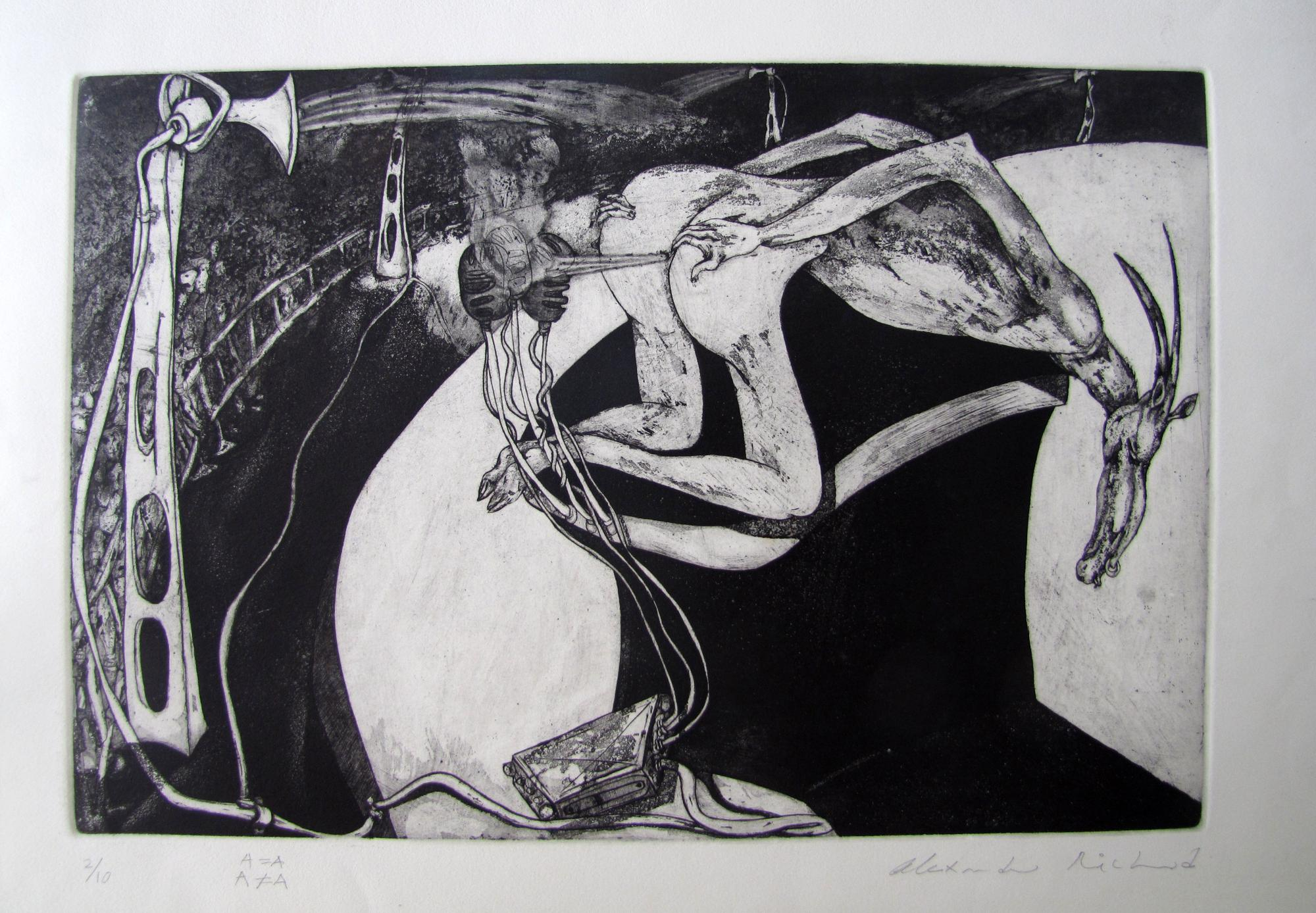 A=A. Etching .1996. 19 x 13 inches