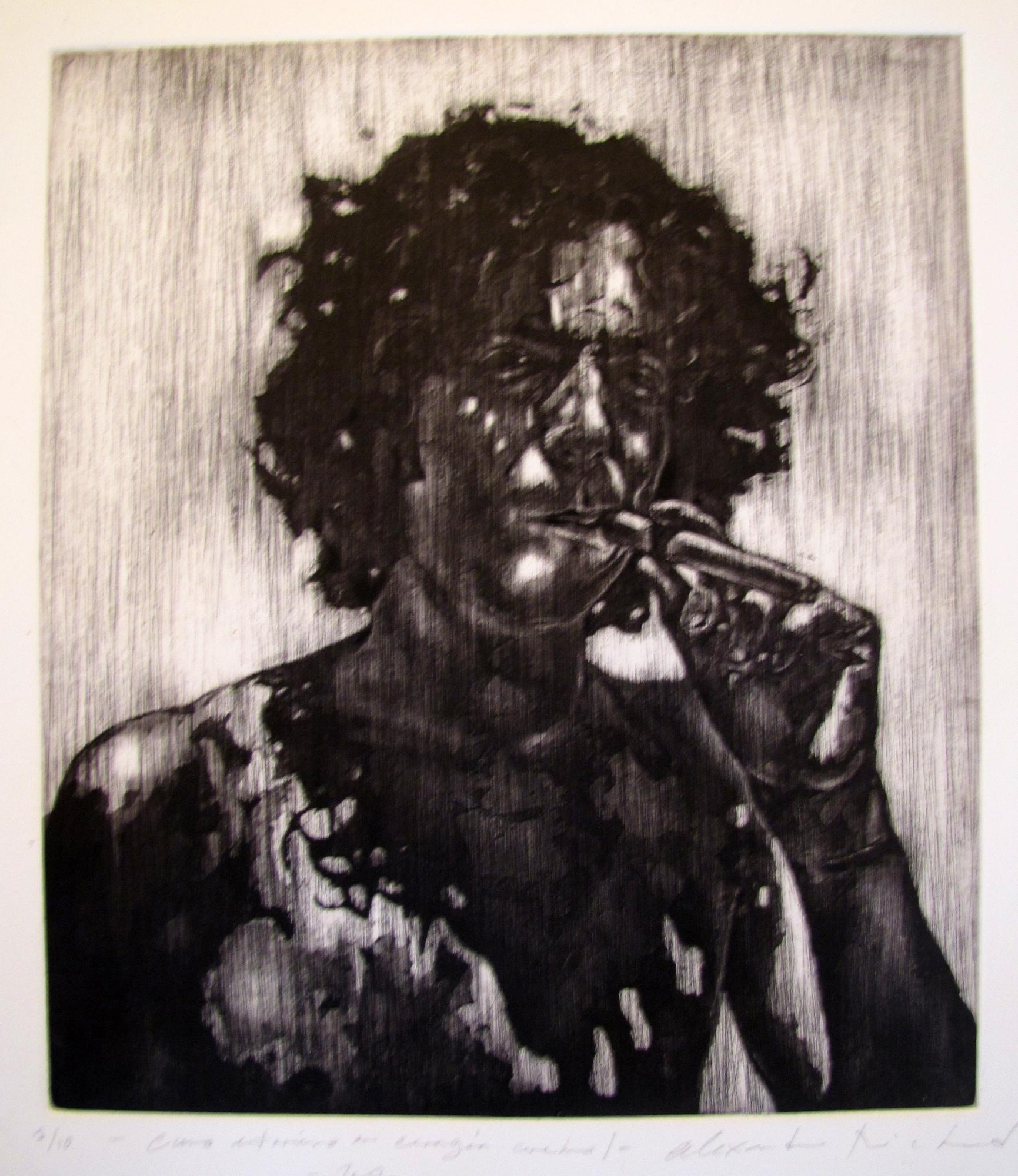 Self.. Etching .1995. 19 x 22 inches
