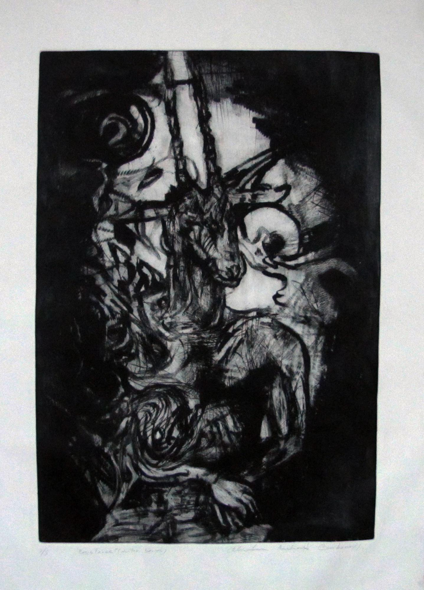 "Resistence-""Hunter""  Serie. Etching . 2015. 23x 34 inches"