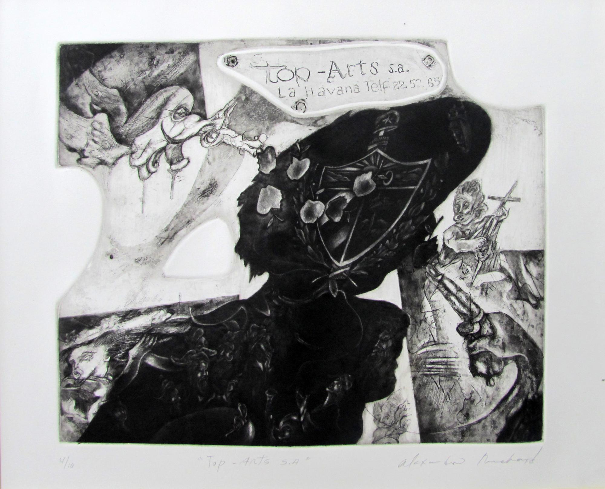 Top Arts.  Etching .1995. 24 x 19 inches