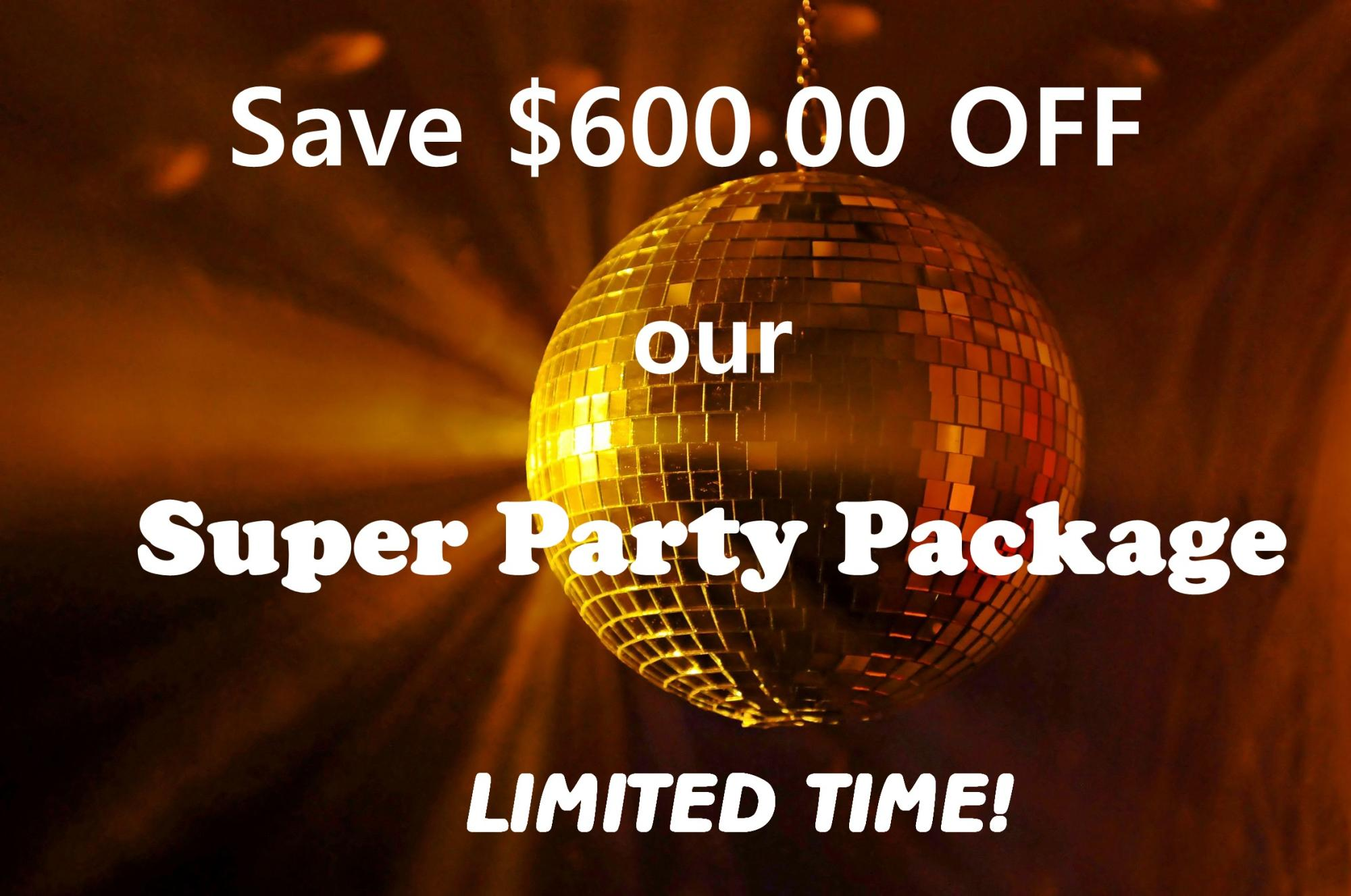 Save $600.00 Limited Time Offer