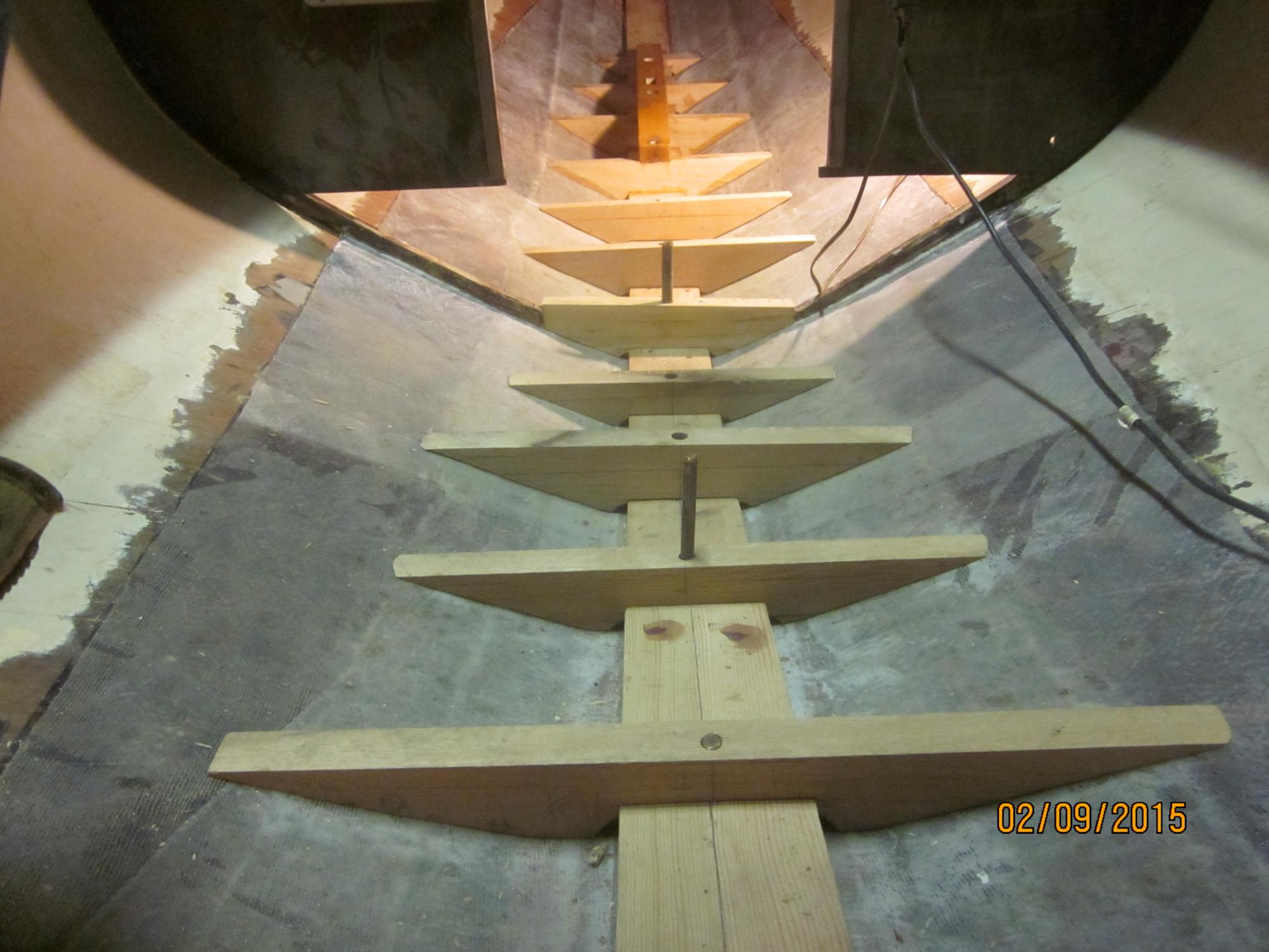 Floor timbers fit but not leveled