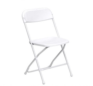 Plastic White Folding Chair