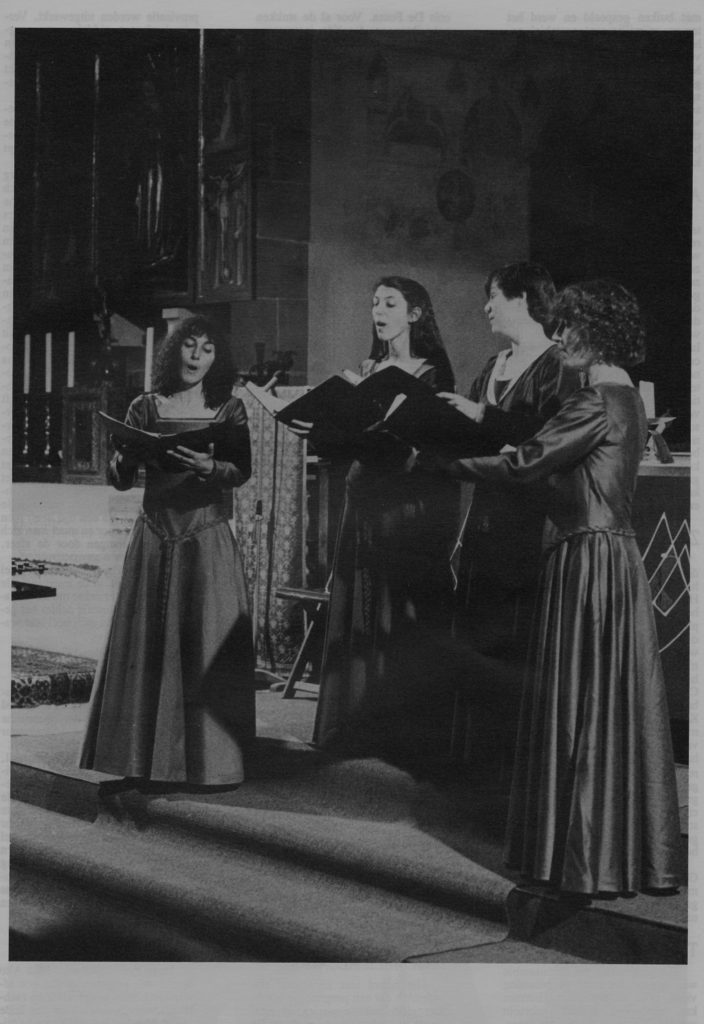 Our European debut, performing An English Ladymass in the Dominikanerkirche, Tage alte Musik Regensburg, 1990.