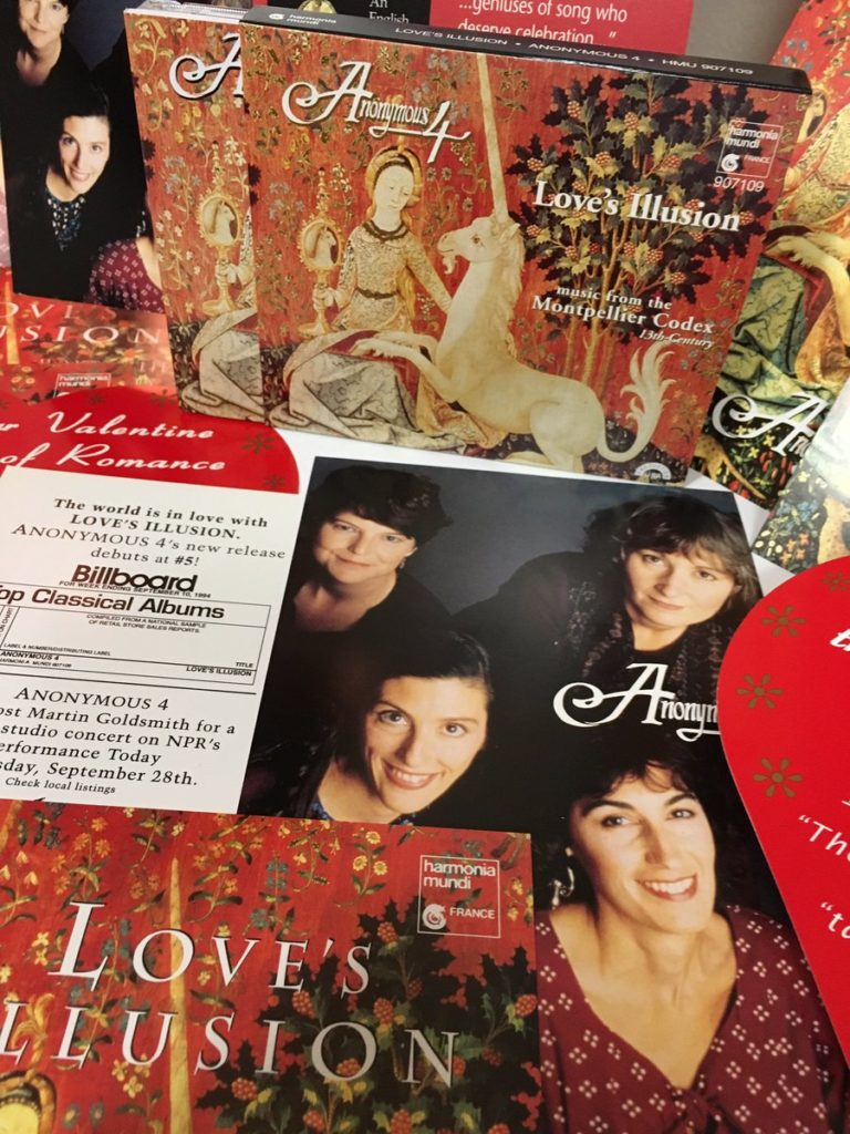 Love's Illusion: Featuring the CD in the box, and other hmu-produced press materials. Every Anonymous 4 recording release on harmonia mundi usa received similar loving attention.