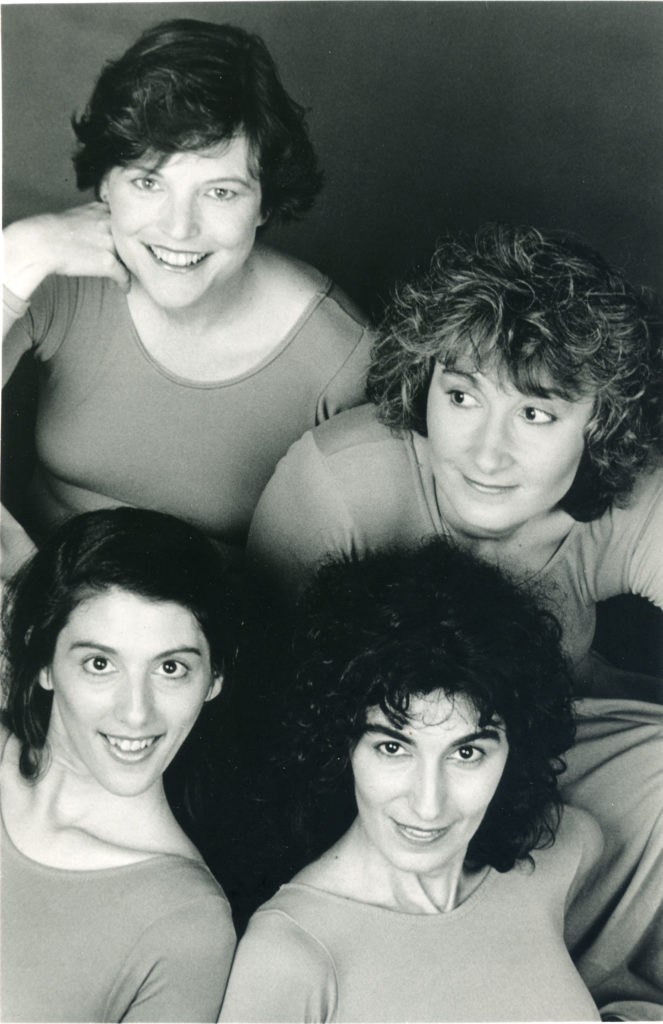 Our first press photo, 1988. Photo: Susan Johann Clockwise from upper left: Ruth, Susan, Johanna, Marsha
