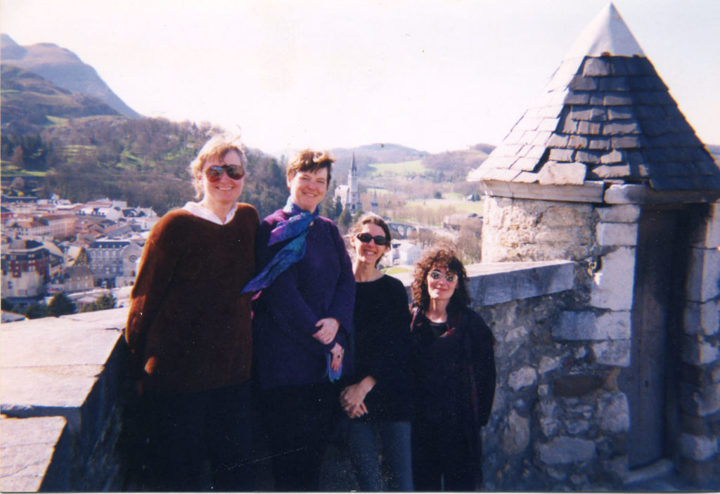 On the castle ramparts in Lourdes, c. 1997
