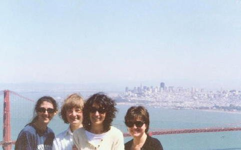 At the overlook on the Golden Gate Bridge, on our way to Skywalker Ranch to record The Second Circle, in 2000. In Vienna