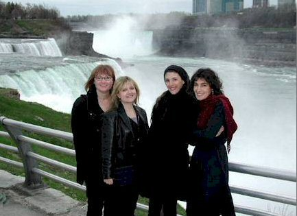Chilly, but exhilarated, at Niagara Falls, New York