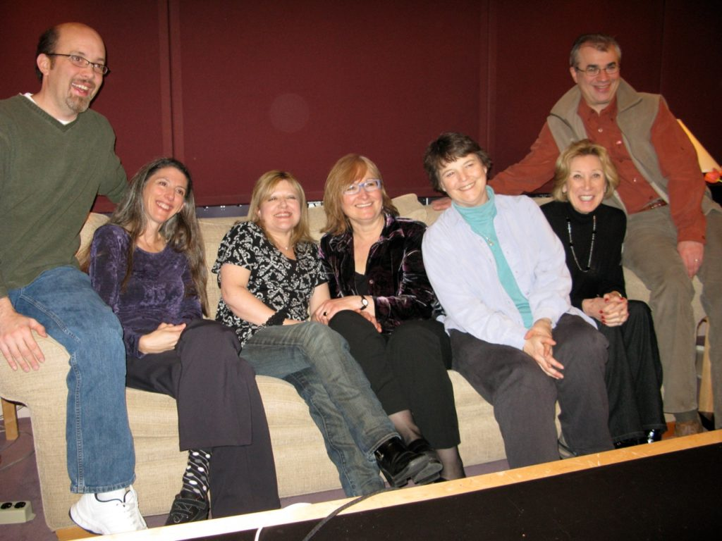 In the control room at Skywalker Ranch after our last recording session there, with longtime producer Robina Young, longtime engineer Brad Michel, and in-house engineer extraordinaire Dann, 2011
