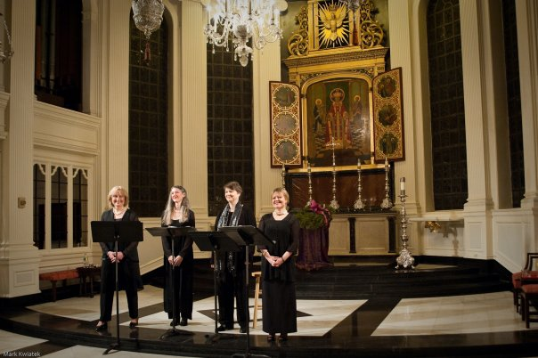 Final bow after a 2014 performance on the Music Before 1800 series at Corpus Christi Church, our home in NYC for more than 15 years,