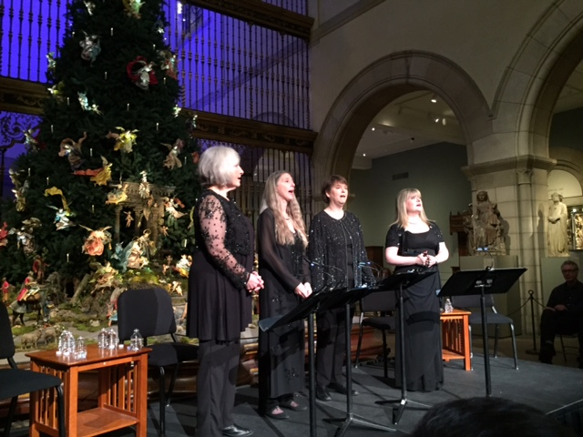 Performing The Last Noel for the last time, in front of the Neapolitan Christmas Tree in the Medieval Sculpture Garden at the Metropolitan Museum of Art in NYC, on December 22, 2015