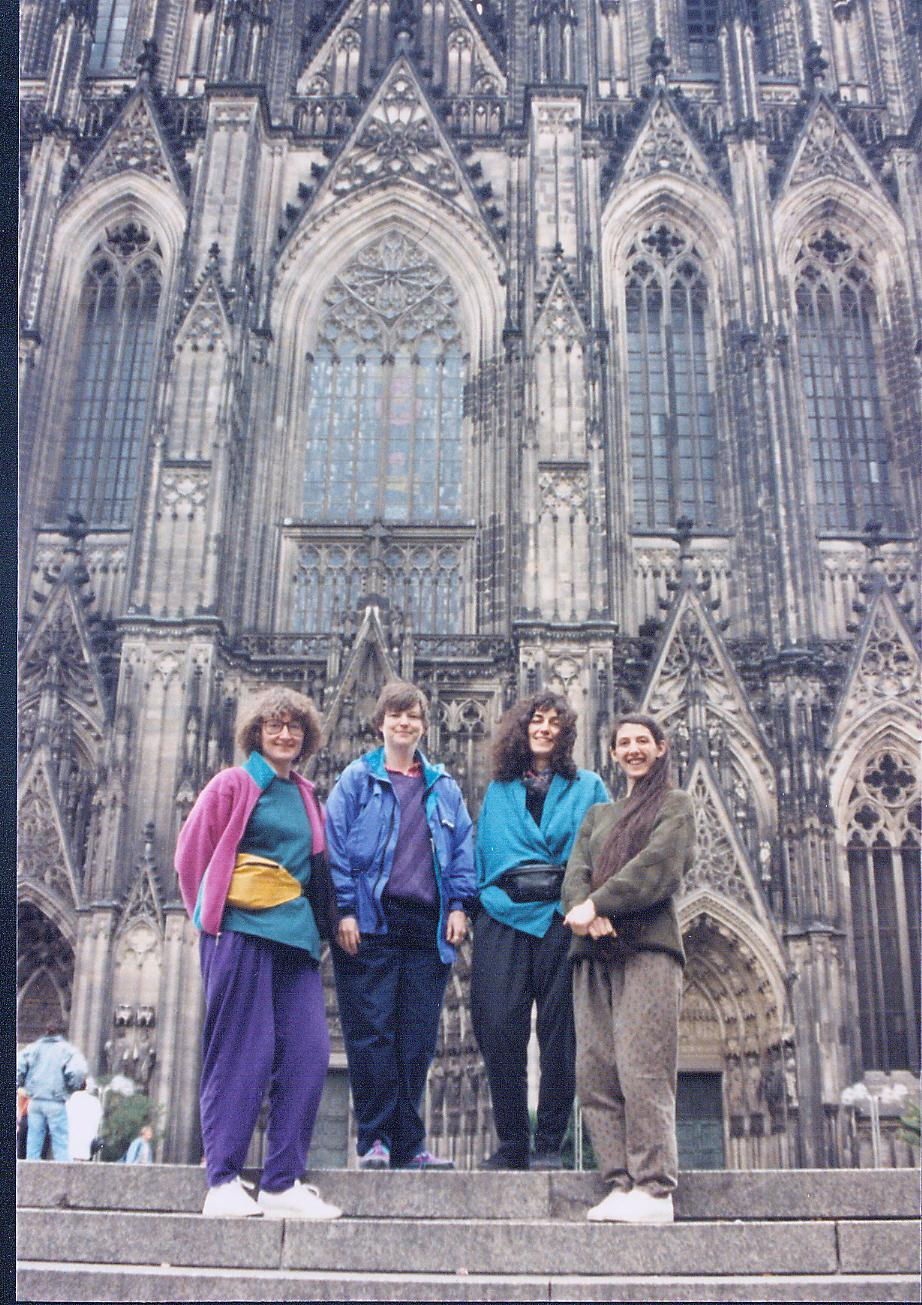 Before our concert in Cologne's cavernous cathedral, c. 1995