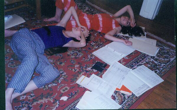 Marsha and Johanna endure grant application insanity for our New York City concert series in the 1980s