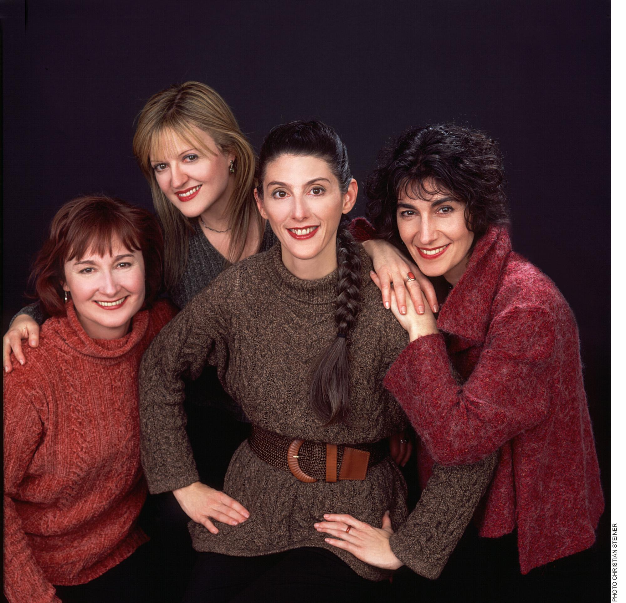 Susan, Jacqueline, Marsha, Johanna Our tweedy look, c. 2004.  Photo: Christian Steiner