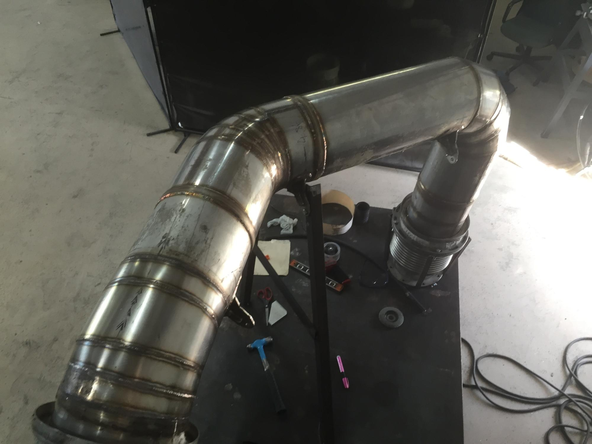 Exhaust Pipe Modification at Shop