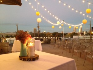 Cafe lighting & paper lanterns at 5 Seasons Brewery