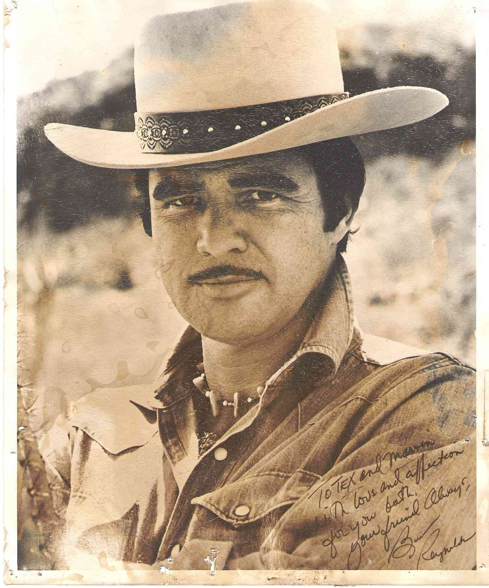 Autographed picture of Burt Reynolds