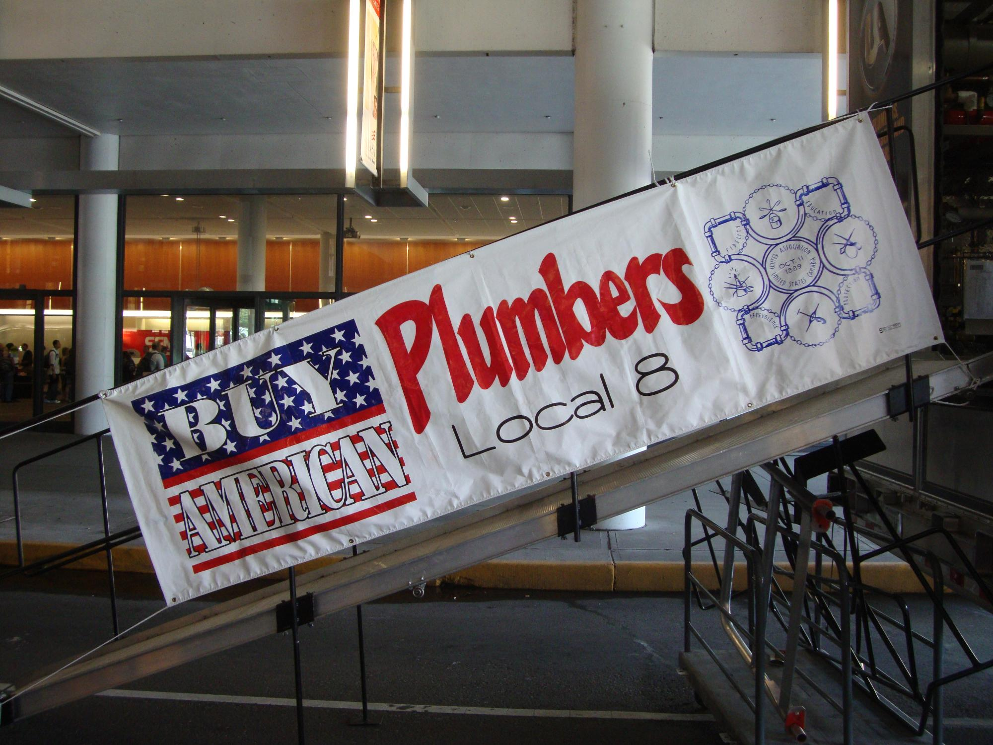 Local 8 Banner at Skills USA 2011