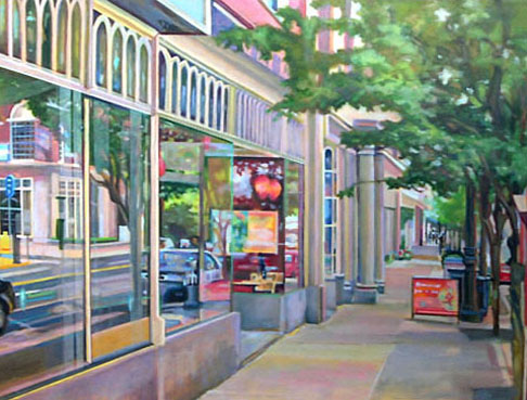 "Cafe Window Scene   36"" x 48"""