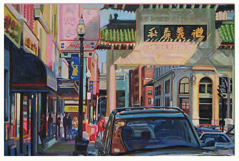 "Chinatown Mystery   24"" x 36""   Oil on canvas"