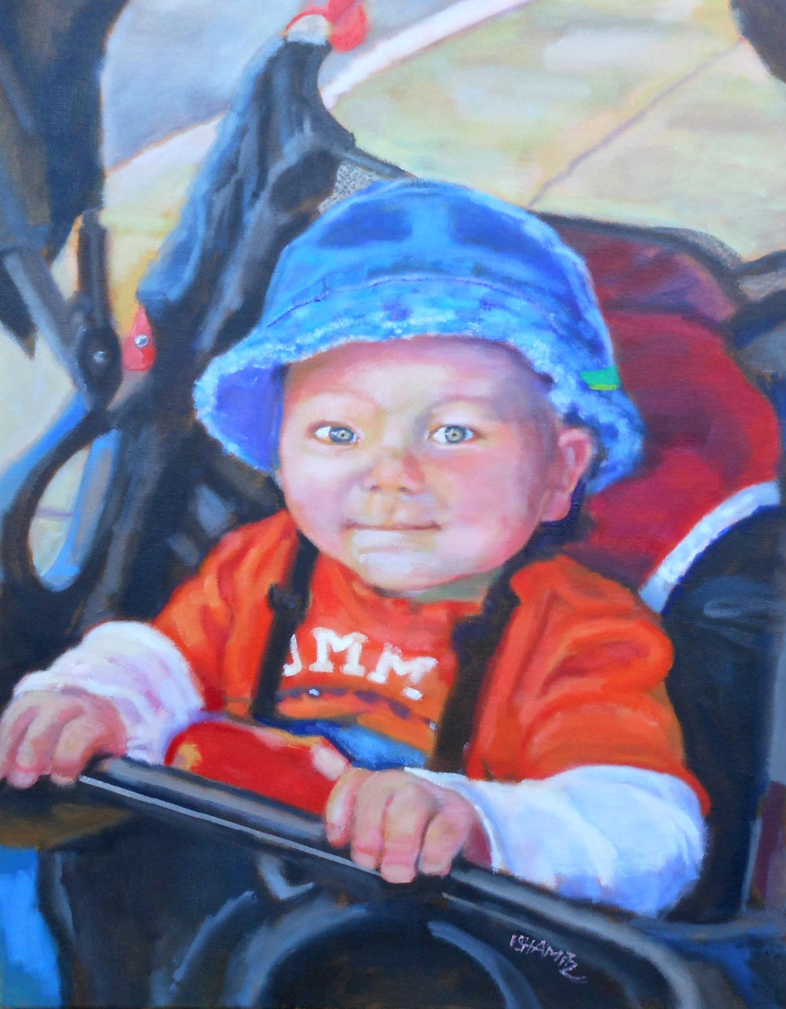 "Little Big Man   24"" x 18""   Oil on canvas"
