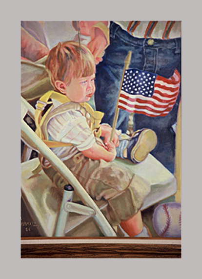 "Little Patriot    26"" x 20""    Oil on canvas"