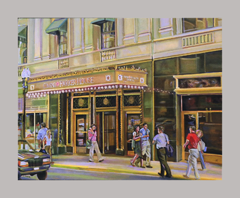 "Omni Parker House   20"" x 24""    Oil on canvas"