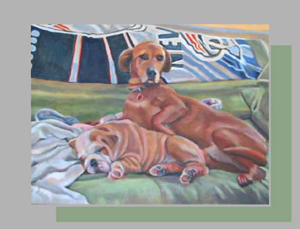 "Pats' Pups    18"" x 24""   Oil on canvas"