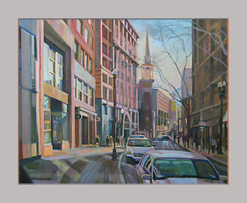 "Washington Street    24"" x 30""    Oil on canvas"