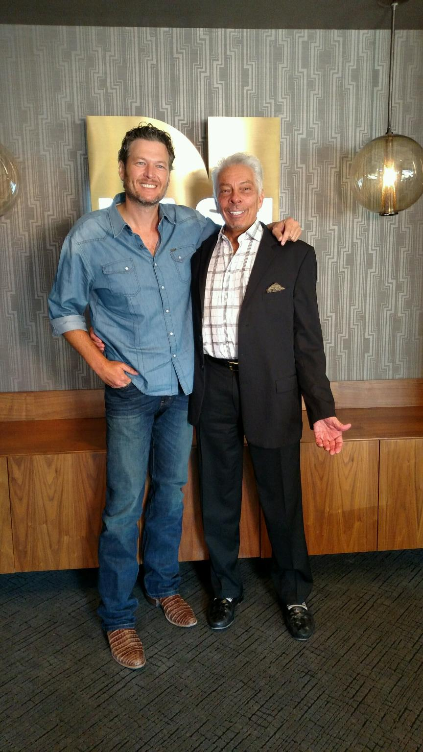 Mike McVay and Blake Shelton at the NASH Campus