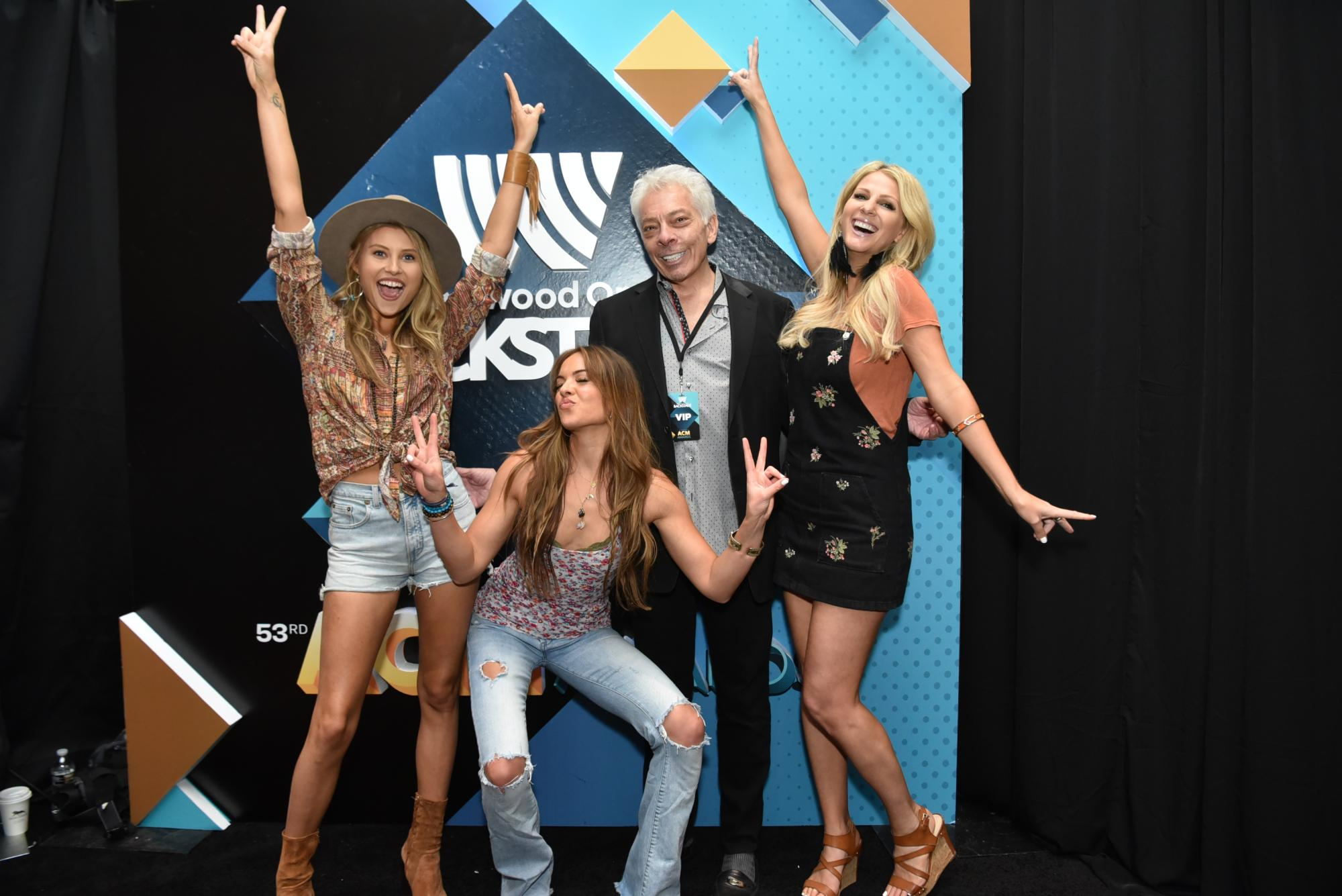 Runaway June with Mike McVay at ACM Awards