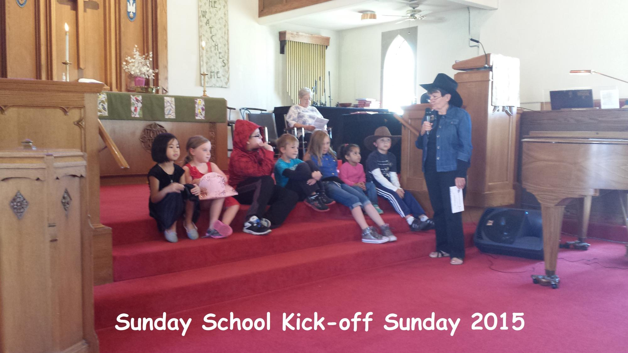 Sunday School Kick-off Sunday 2015