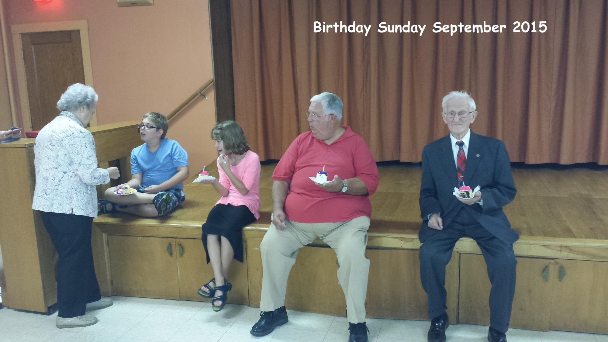 Birthday Sunday September 2015