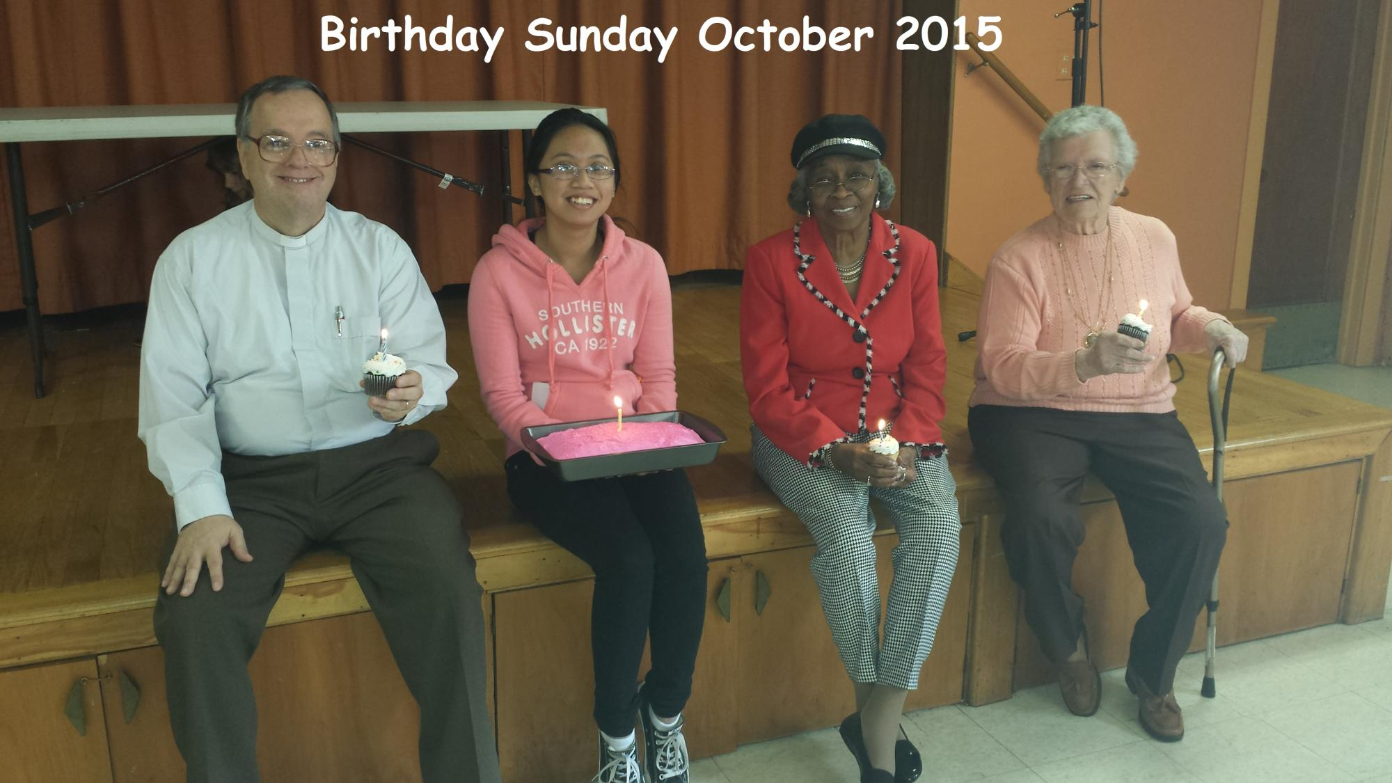 Birthday Sunday October 2015