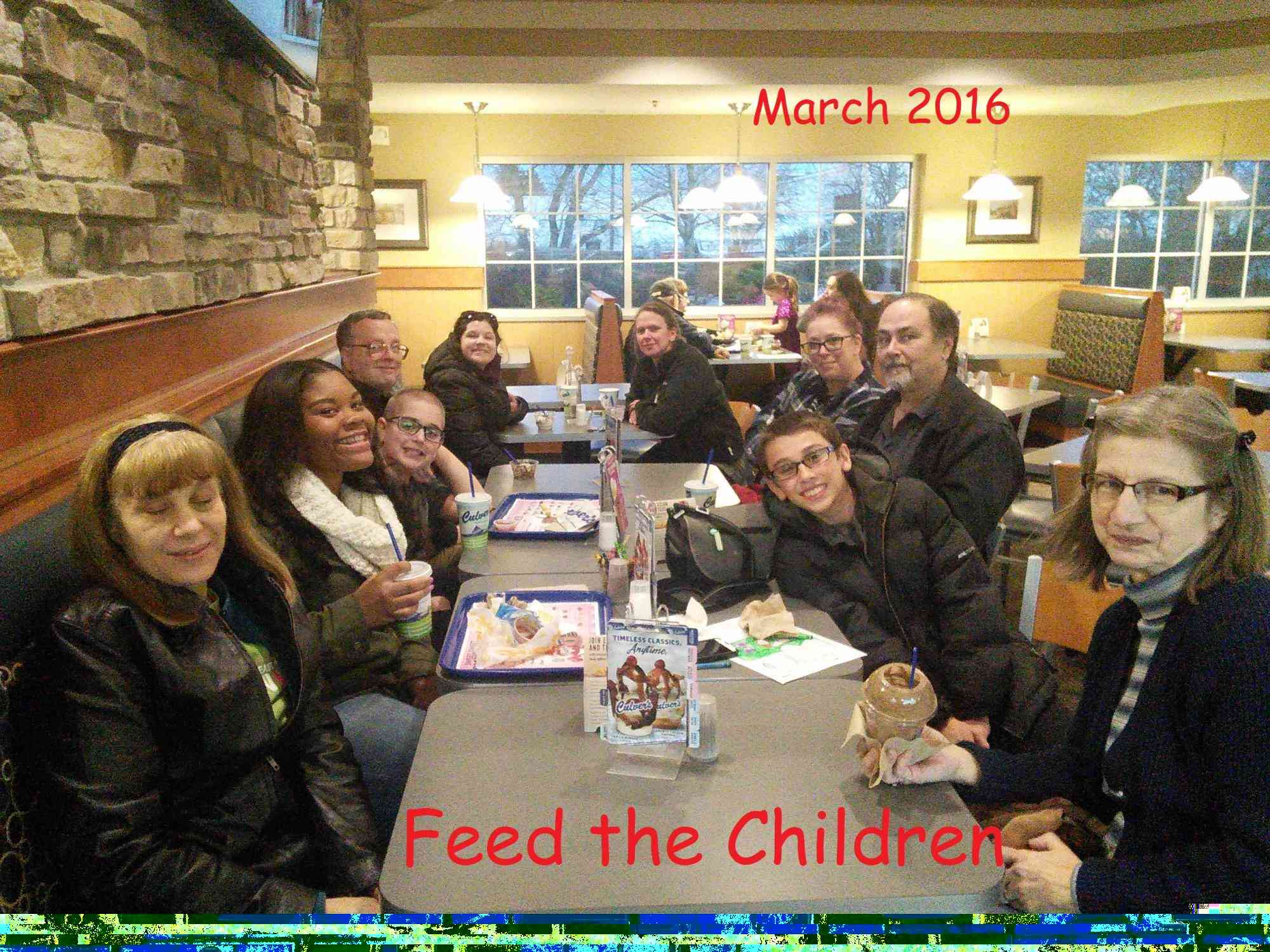 Feed the Children March 2016
