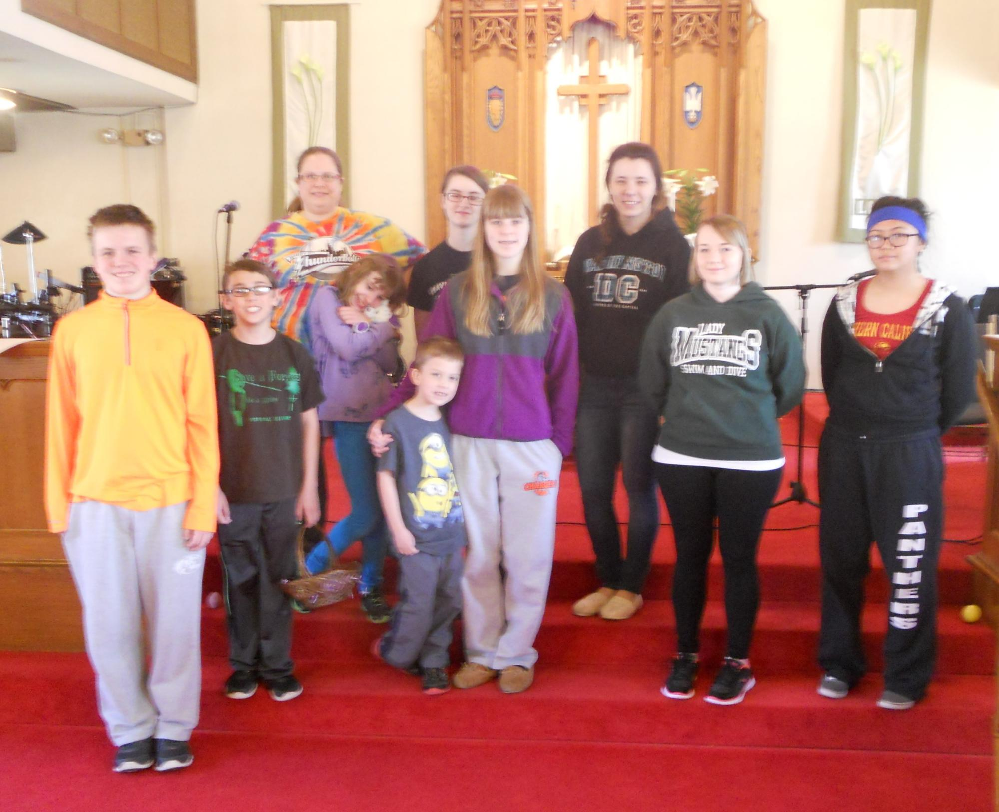 Youth Group Rehearse for Easter 2015