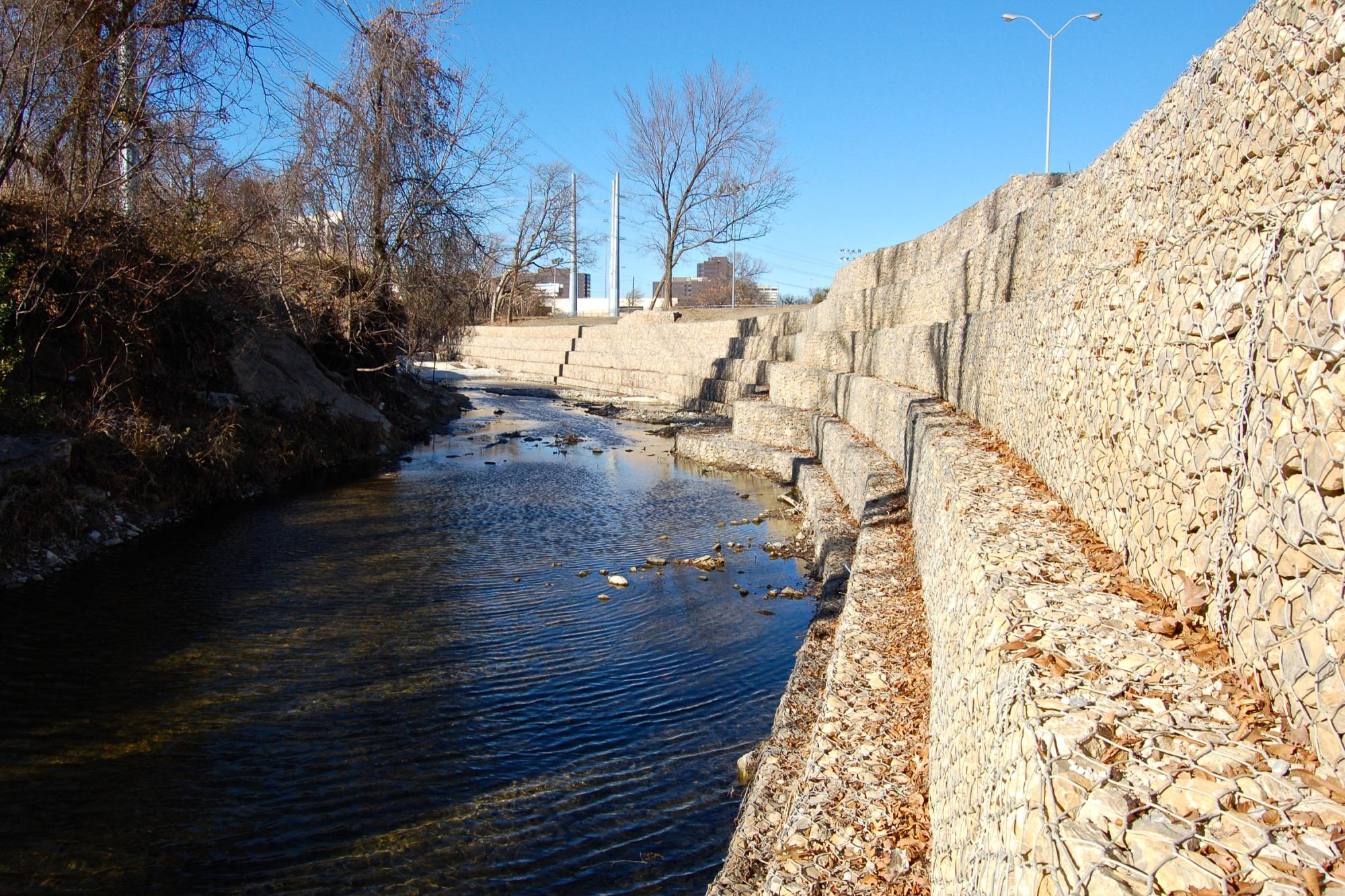 Cottonwood Creek Gabion Walls and Hike and Bike Trails