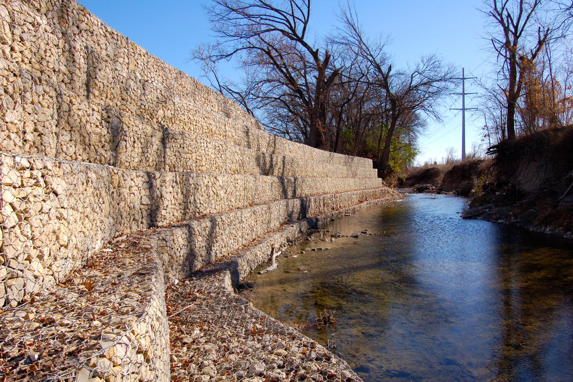 Cottonwood Creek Gabion Walls