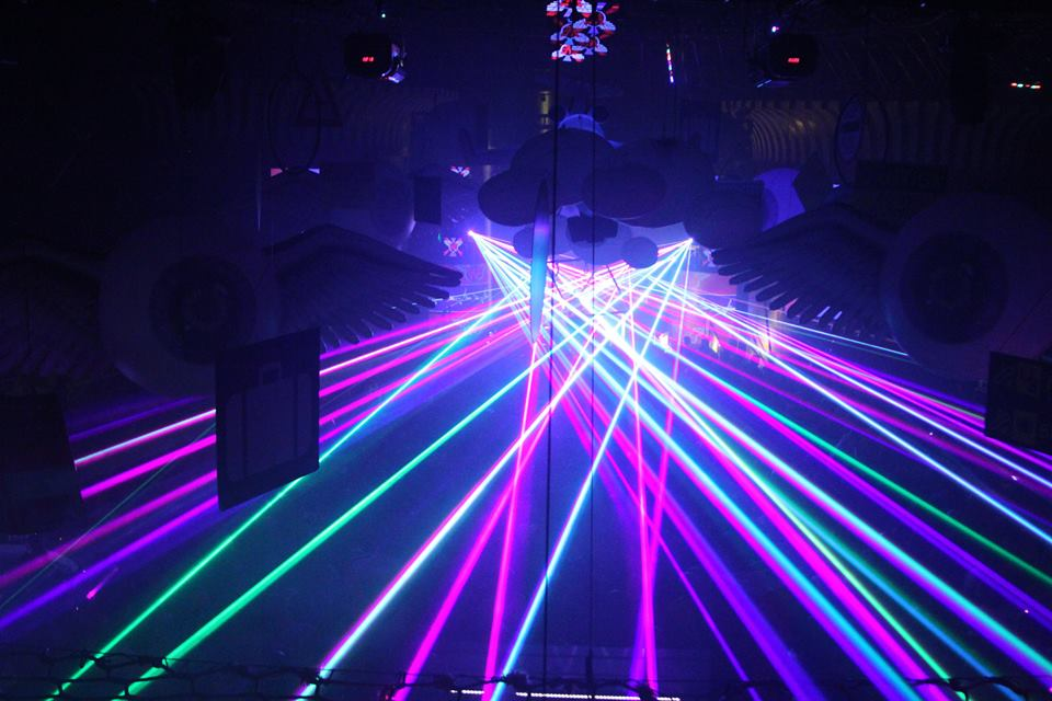 winter music festival lasers by United Laser