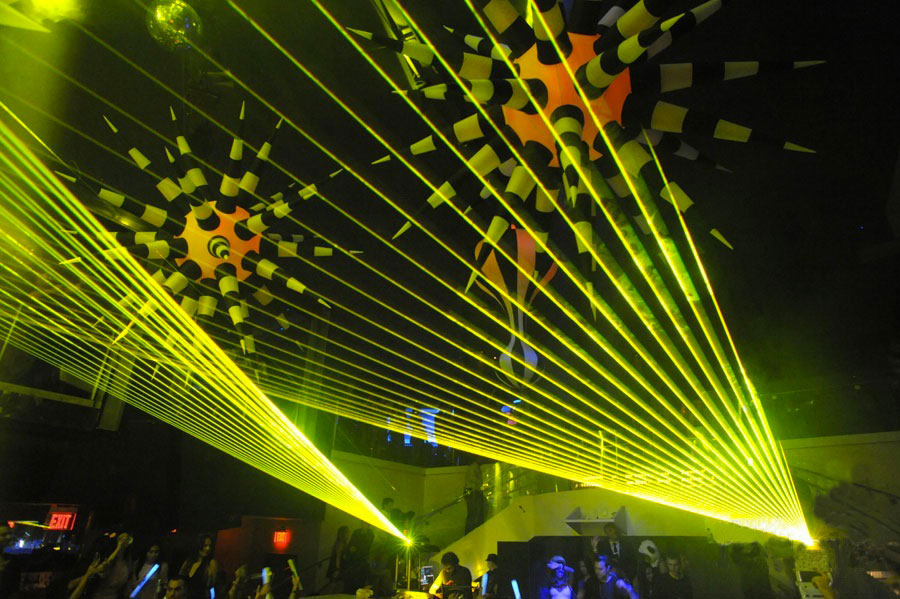 Club LIV Miami lasers by United Laser Artists Inc