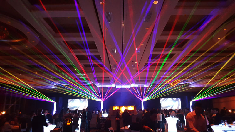 Full color RGB lasers network by United Laser