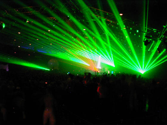 High power lasers for rock concert by United Laser