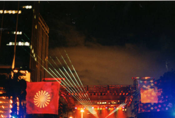 Outdoor high power laser show at ULTRA Music festival  by United Laser