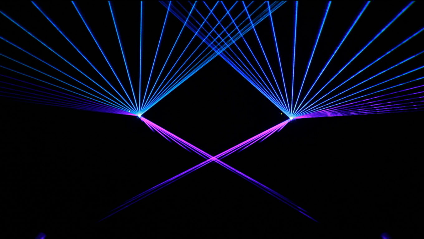 abstract laser effects