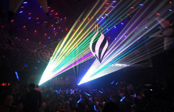 Laser at Club LIV Miami for Halloween