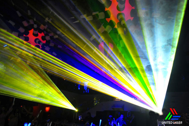 indoor full color lasers Miami by united Laser